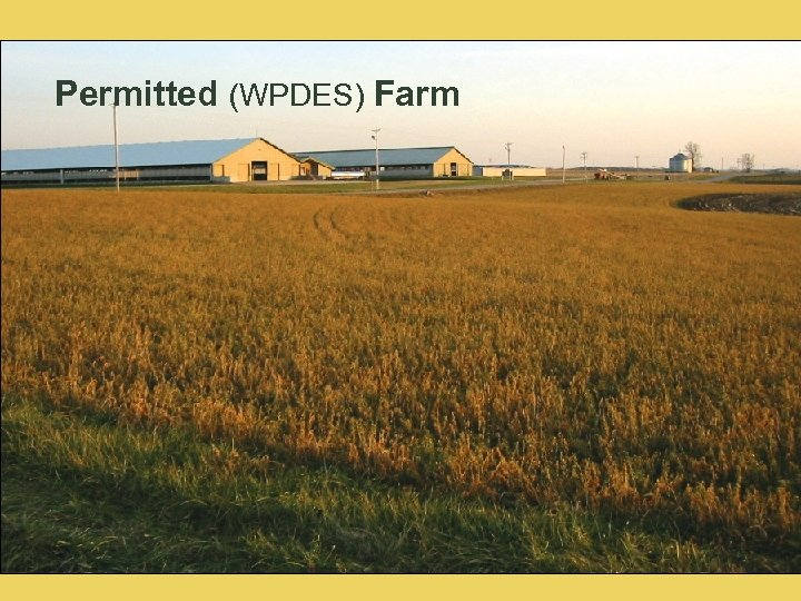 Permitted (WPDES) Farm