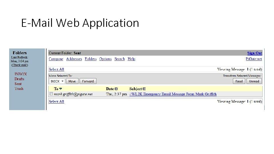 E-Mail Web Application