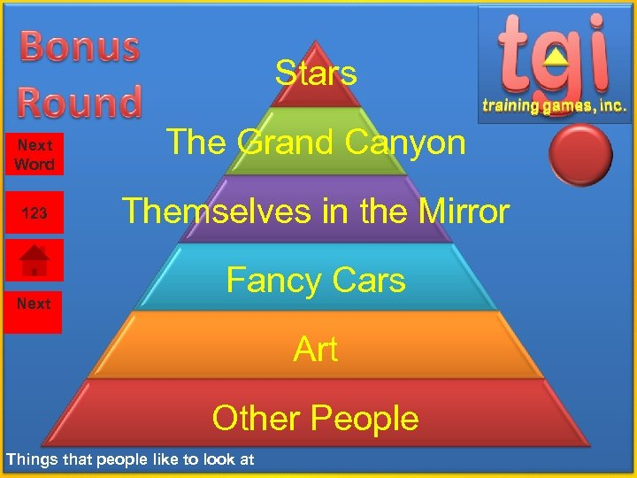 Stars Next Word 123 Next The Grand Canyon Themselves in the Mirror Fancy Cars