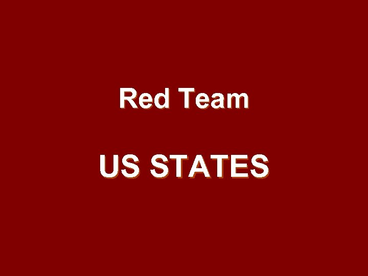 Red Team US STATES