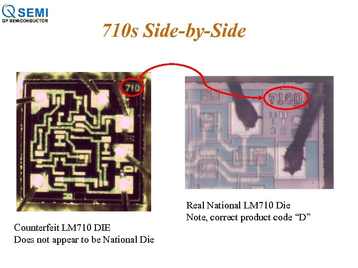 710 s Side-by-Side Counterfeit LM 710 DIE Does not appear to be National Die