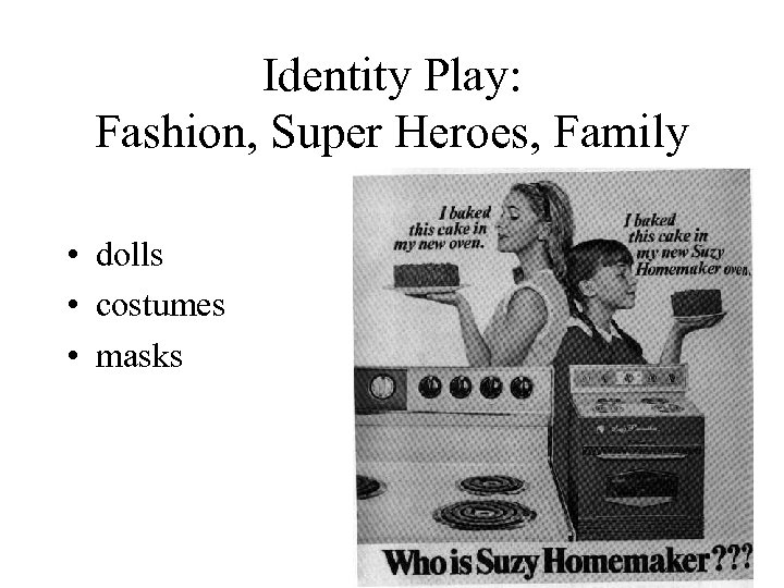 Identity Play: Fashion, Super Heroes, Family • dolls • costumes • masks