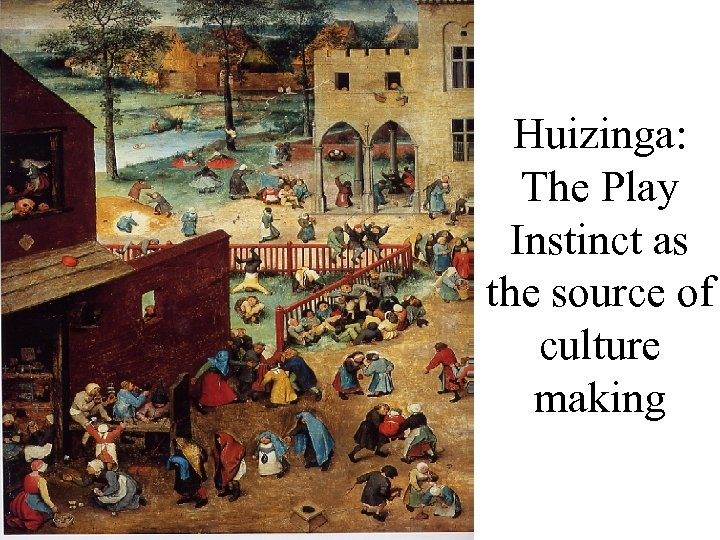 Huizinga: The Play Instinct as the source of culture making
