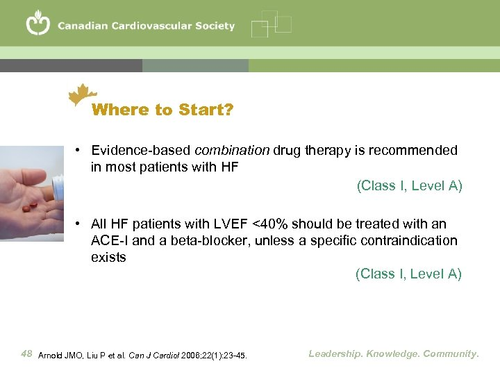 Where to Start? • Evidence-based combination drug therapy is recommended in most patients with
