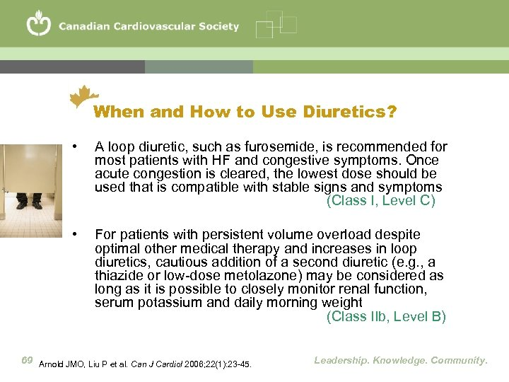 When and How to Use Diuretics? • A loop diuretic, such as furosemide, is