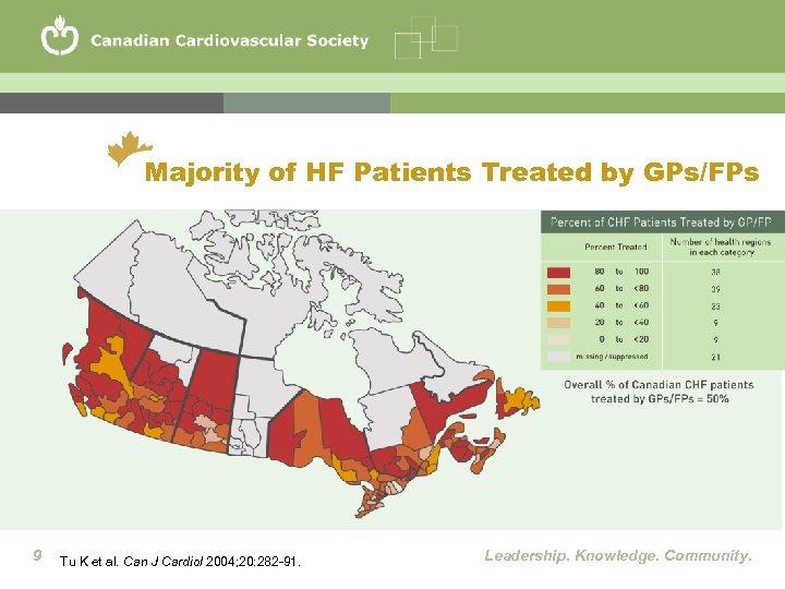 Majority of HF Patients Treated by GPs/FPs 9 Tu K et al. Can J