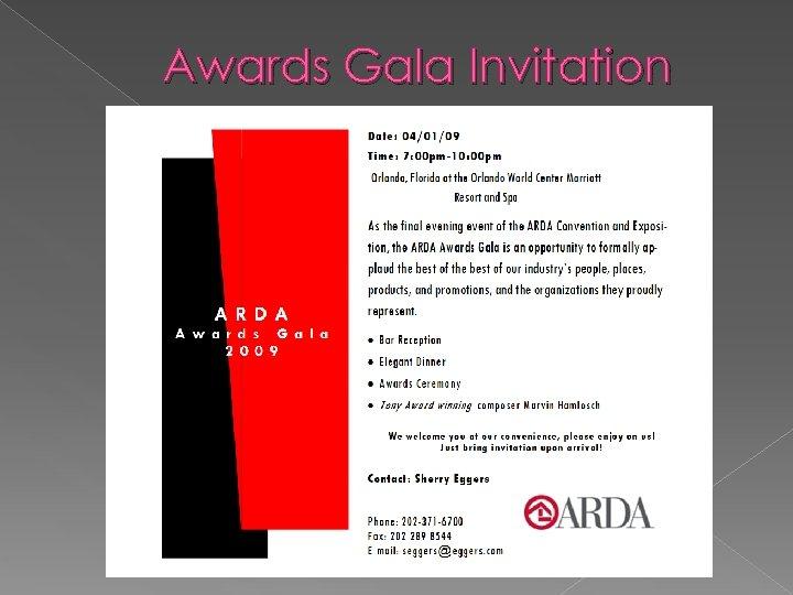 Awards Gala Invitation