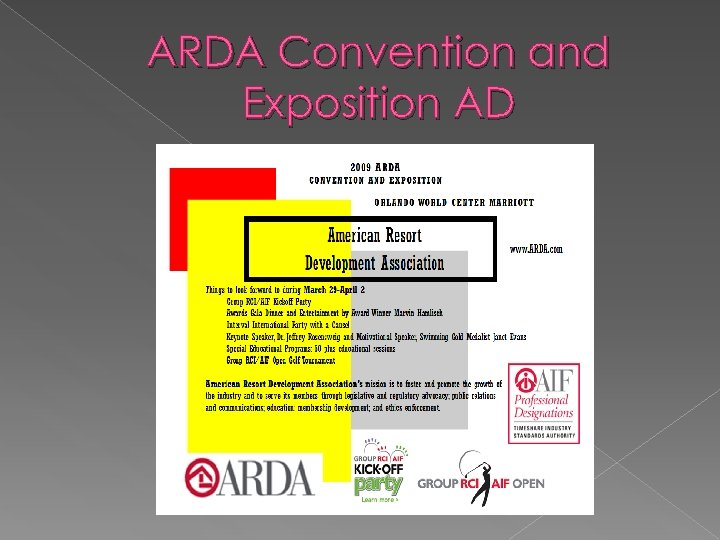 ARDA Convention and Exposition AD