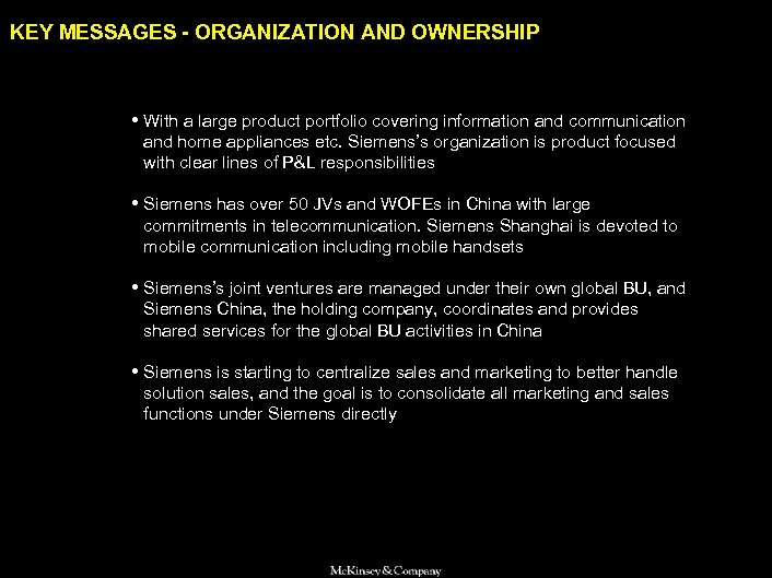 SAMSUNG 010605 BJ-kickoff 2 KEY MESSAGES - ORGANIZATION AND OWNERSHIP • With a large