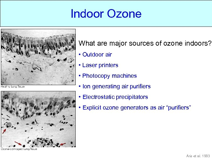 Indoor Ozone Indoor What are major sources of ozone indoors? • Outdoor air •
