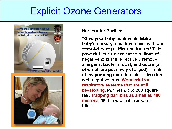 """Explicit Ozone Generators Nursery Air Purifier """"Give your baby healthy air. Make baby's nursery"""
