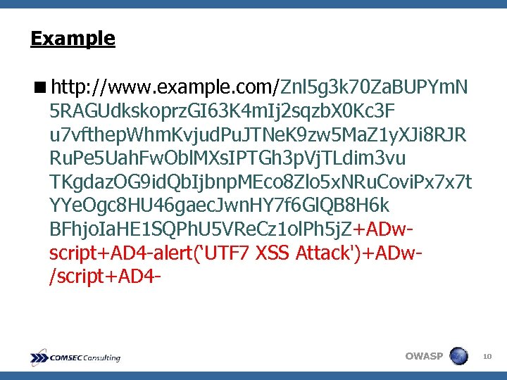 Example <http: //www. example. com/Znl 5 g 3 k 70 Za. BUPYm. N 5