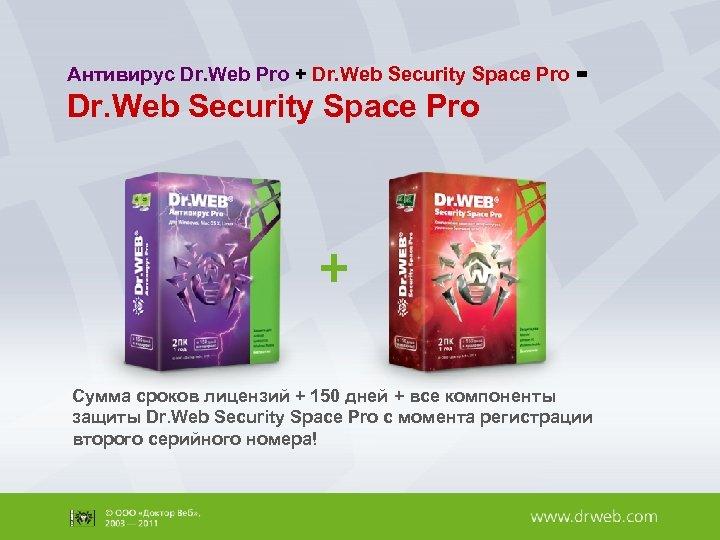 Антивирус Dr. Web Pro + Dr. Web Security Space Pro = Dr. Web Security