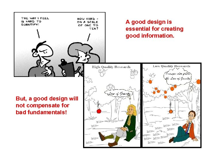 A good design is essential for creating good information. But, a good design will