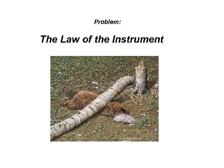 Problem: The Law of the Instrument