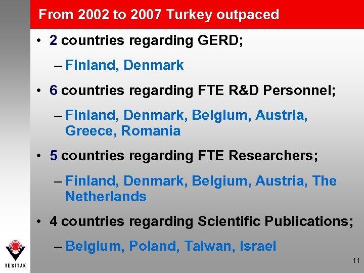 From 2002 to 2007 Turkey outpaced • 2 countries regarding GERD; – Finland, Denmark