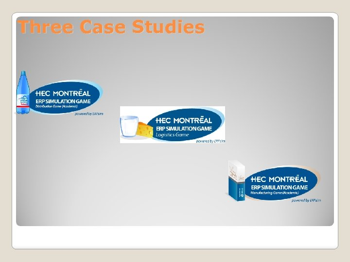 Three Case Studies