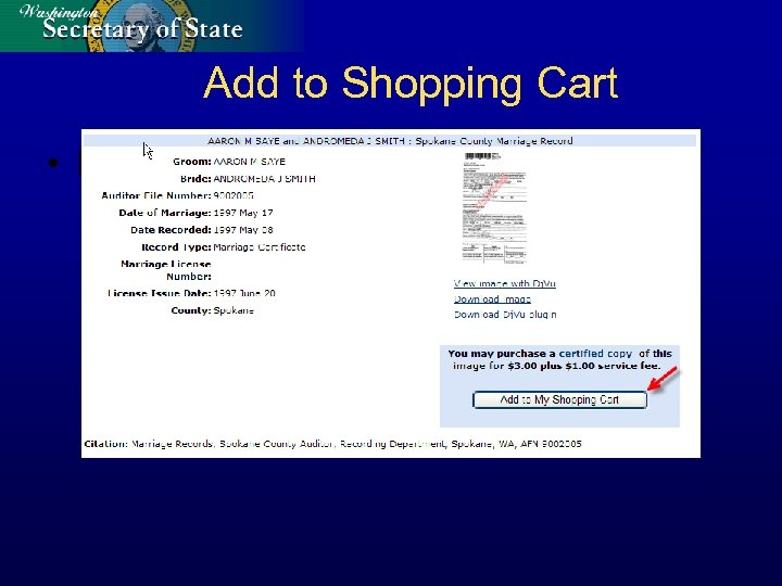 Add to Shopping Cart • Ecommerce Functionality – Add to Shopping cart