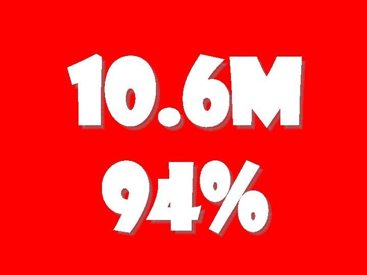 10. 6 M 94%