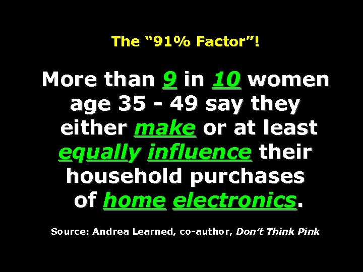 """The """" 91% Factor""""! More than 9 in 10 women age 35 - 49"""