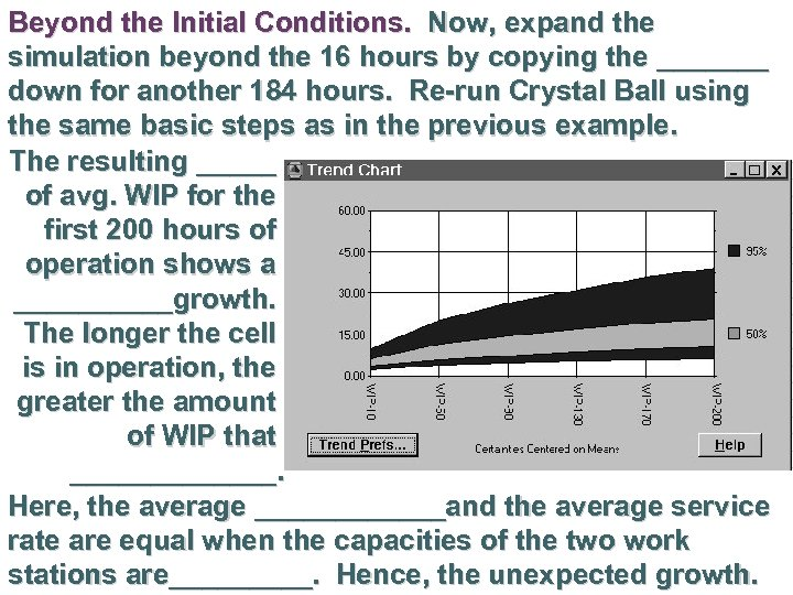 Beyond the Initial Conditions. Now, expand the simulation beyond the 16 hours by copying