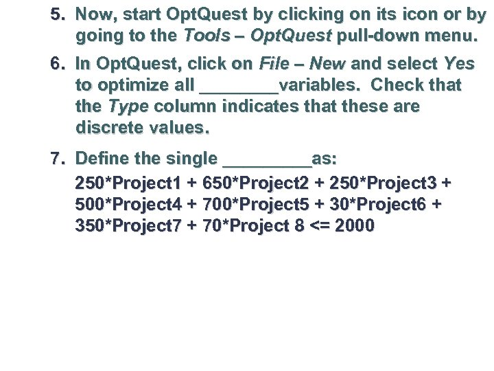 5. Now, start Opt. Quest by clicking on its icon or by going to