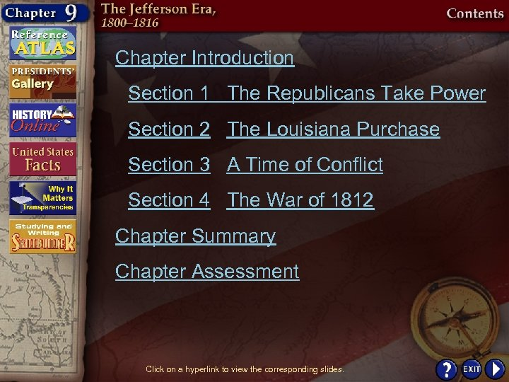 Chapter Introduction Section 1 The Republicans Take Power Section 2 The Louisiana Purchase Section
