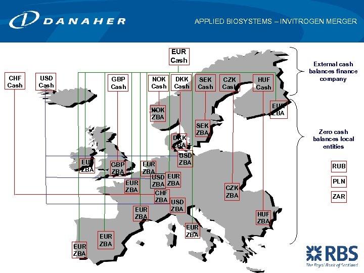 APPLIED BIOSYSTEMS – INVITROGEN MERGER EUR Cash CHF Cash USD Cash GBP Cash NOK