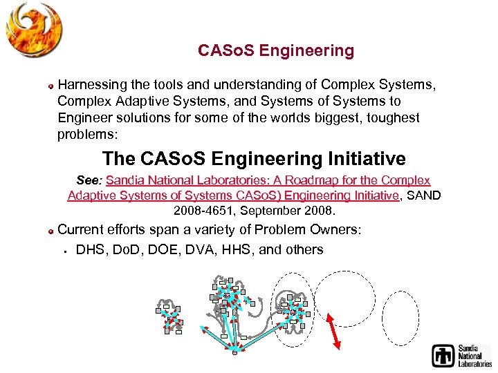 CASo. S Engineering Harnessing the tools and understanding of Complex Systems, Complex Adaptive Systems,