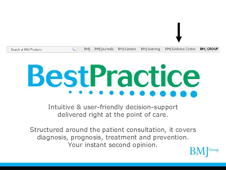 Intuitive & user-friendly decision-support delivered right at the point of care. Structured around the