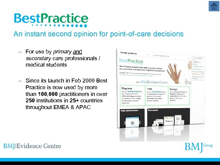 An instant second opinion for point-of-care decisions – For use by primary and secondary