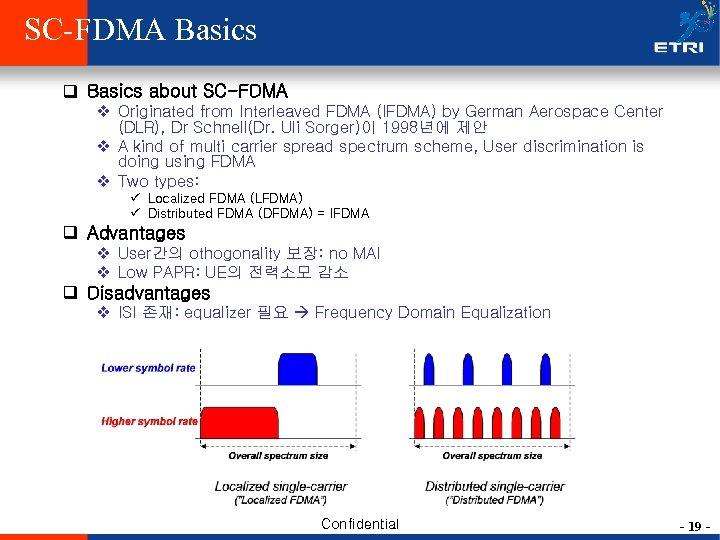 SC-FDMA Basics q Basics about SC-FDMA v Originated from Interleaved FDMA (IFDMA) by German