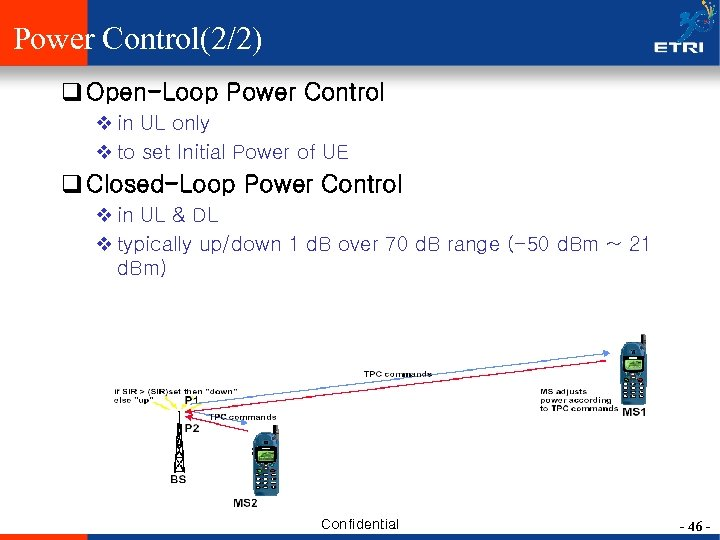 Power Control(2/2) q Open-Loop Power Control v in UL only v to set Initial