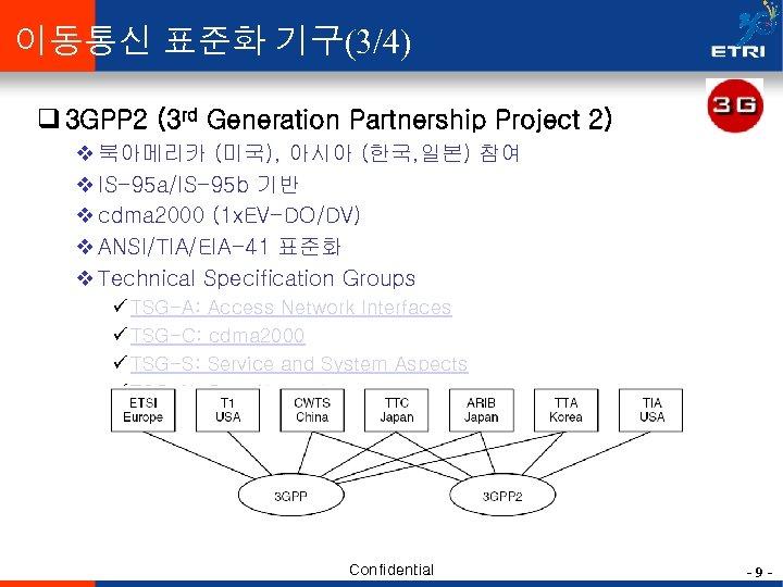 이동통신 표준화 기구(3/4) q 3 GPP 2 (3 rd Generation Partnership Project 2) v