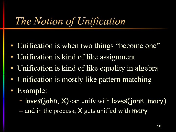"""The Notion of Unification • • • Unification is when two things """"become one"""""""