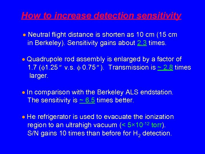 How to increase detection sensitivity Neutral flight distance is shorten as 10 cm (15