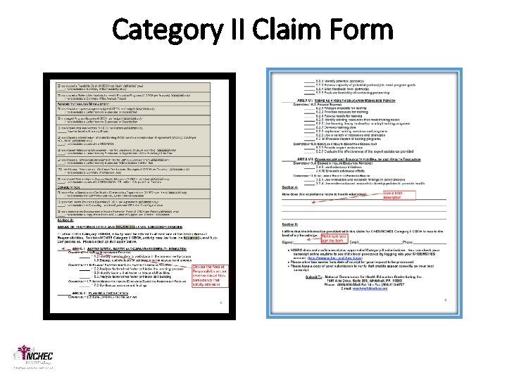 Category II Claim Form