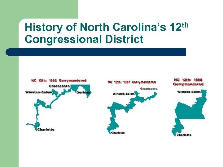 History of North Carolina's 12 th Congressional District