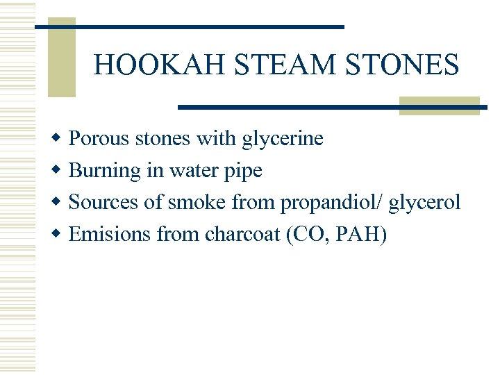 HOOKAH STEAM STONES w Porous stones with glycerine w Burning in water pipe w
