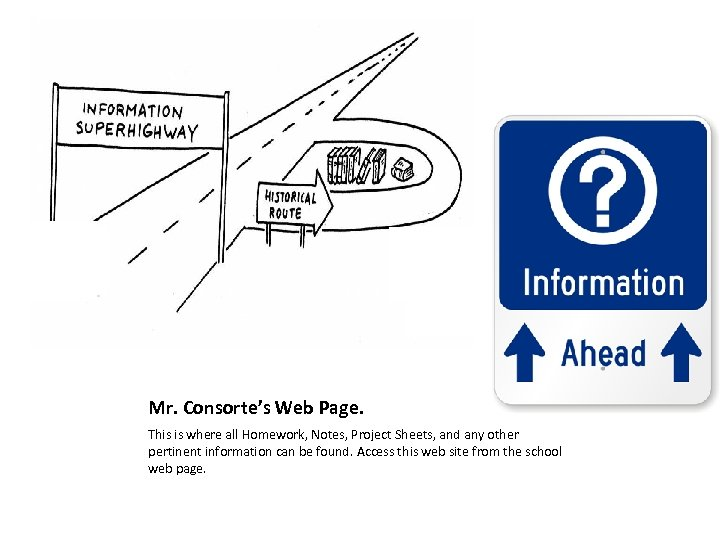 Mr. Consorte's Web Page. This is where all Homework, Notes, Project Sheets, and any