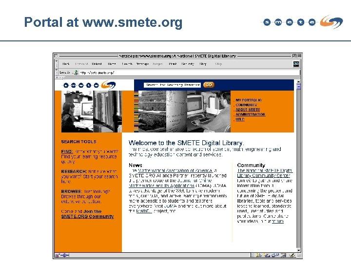 Portal at www. smete. org