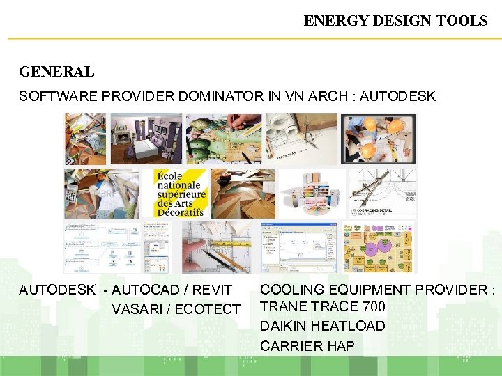 ENERGY DESIGN TOOLS GENERAL SOFTWARE PROVIDER DOMINATOR IN VN ARCH : AUTODESK - AUTOCAD