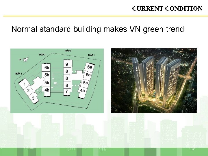 CURRENT CONDITION Normal standard building makes VN green trend