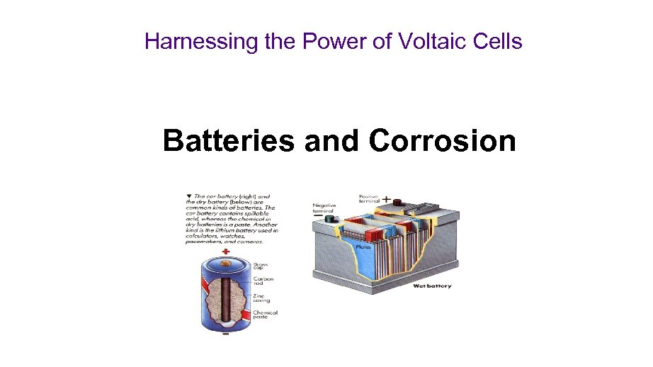 Harnessing the Power of Voltaic Cells Batteries and Corrosion
