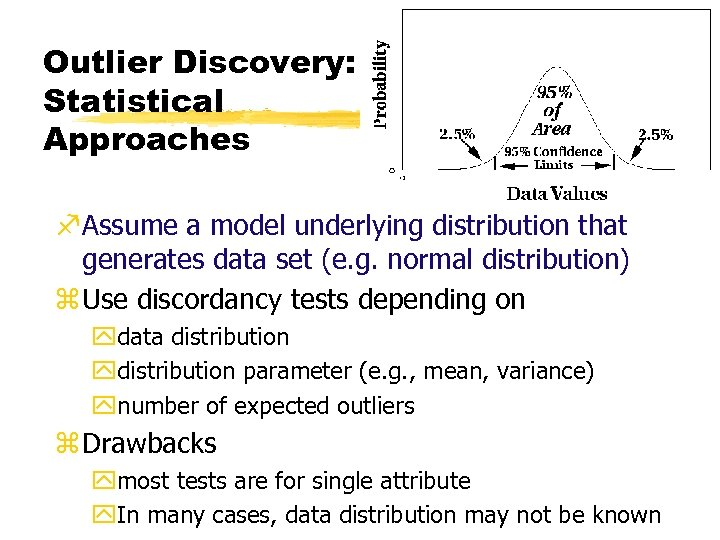 Outlier Discovery: Statistical Approaches f. Assume a model underlying distribution that generates data set