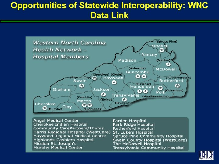 Opportunities of Statewide Interoperability: WNC Data Link