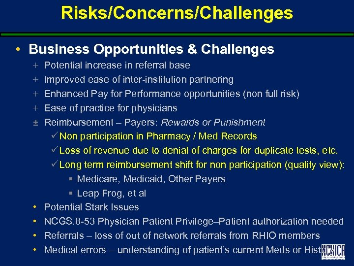 Risks/Concerns/Challenges • Business Opportunities & Challenges + + ± • • Potential increase in