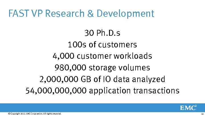 FAST VP Research & Development 30 Ph. D. s 100 s of customers 4,