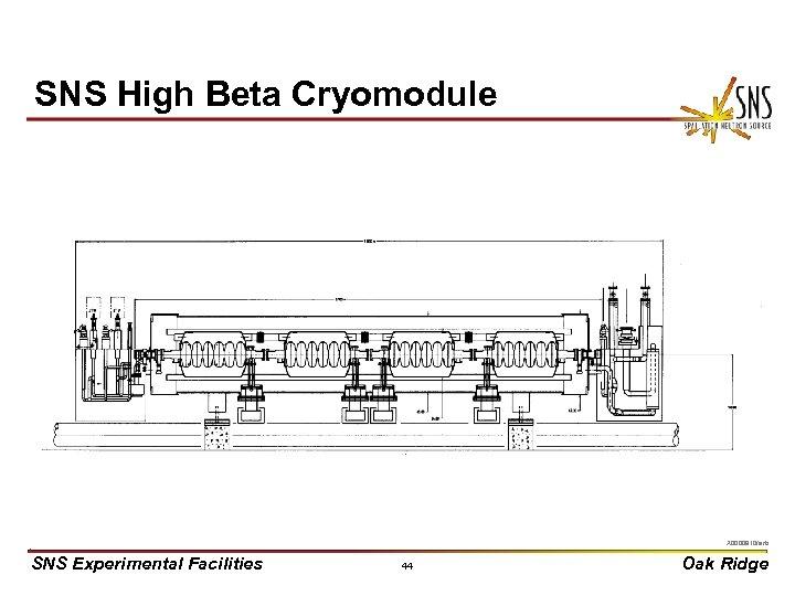SNS High Beta Cryomodule X 0000910/arb SNS Experimental Facilities 44 Oak Ridge