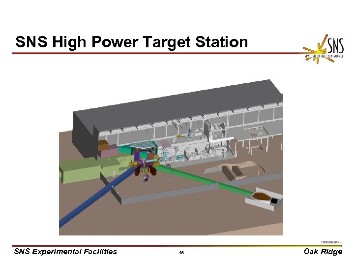 SNS High Power Target Station X 0000910/arb 2000 -03440/arb SNS Experimental Facilities 46 Oak